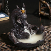 Ceramic Dragon Incense Burner + 10 Incenses