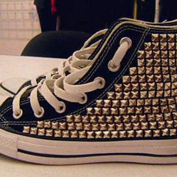 Fully Studded High Top Converses