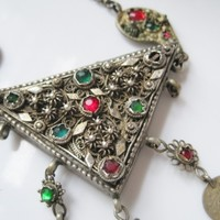 Vintage Ottoman Amulet Necklace from Greece or the Balkans