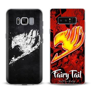 Fairy Tail Natsu Logo Phone Case Cover Shell For Samsung Galaxy S4 S5 S6 S7 Edge S8 Plus Note 8 2 3 4 5 A5 A7 J5 2016 J7 2017