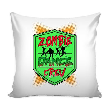 Funny Graphic Pillow Cover Zombie Dance Crew