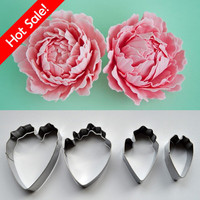 Stainless Steel Floral Petal Cutter Gum Paste Flower Cutter Set Cake Decoraitng Sugar Art Peony Gum Paste Cut Cutter Set