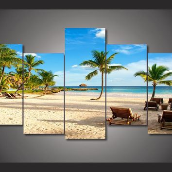Vacation Paradise 5-Piece Wall Art Canvas