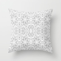 Etched Pattern Throw Pillow by 2sweet4words