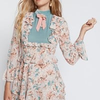 Free People Blossom Long Sleeve Mini Dress