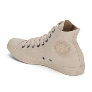 DCKL9 Converse Men's Chuck Taylor All Star Monochrome Hi-Top Trainers - Tan Sand