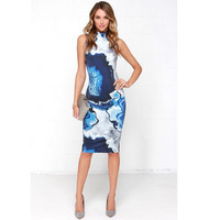 Fashion Sleeveless Print Women Casual Dress = 1876537412
