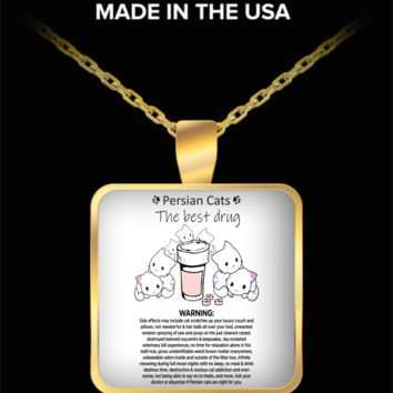 Persian Cats The Best Drug Funny Therapy Necklace For Cat Moms Who Love Persians + Surprise Bonus