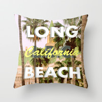 Long Beach, California V.R. Throw Pillow by RichCaspian