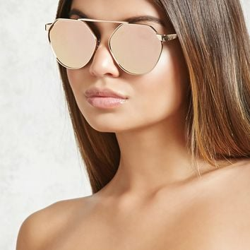 Mirrored Bridgeless Sunglasses