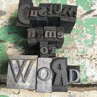 Letterpress Print Blocks Custom Word or Phrase 15 Letters