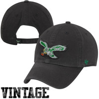 47 Brand Philadelphia Eagles Cleanup Throwback Adjustable Hat - Charcoal