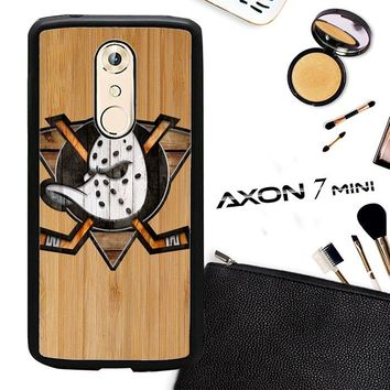Anaheim Ducks Logo Wood Z4485 ZTE AXON 7 Mini Case