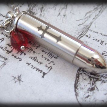 Shot A Silver Bullet Through The Heart  stainless by plasticouture