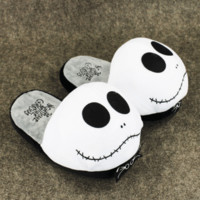 Nightmare Before Christmas Jack Skellington Plush Slippers