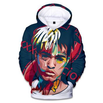 2018 Hot Raper Xxxtentacion 3D Hoodies Men/women Fashion High Quality 3D Style Harajuku Xxxtentacion Men's Hoodies sweatshirt