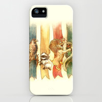 House Brawl iPhone & iPod Case by Alice X. Zhang