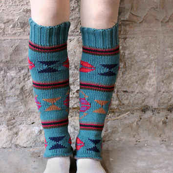 $23.00 Upcycled Cotton Sweater Leg Warmers in by RubyChicOriginals