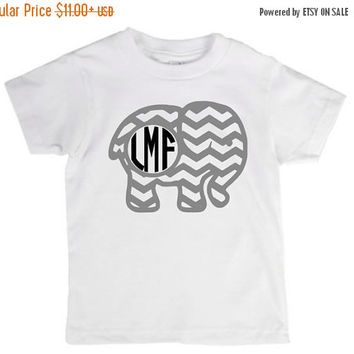 SALE SALE Elephant clothing,monogram, monogram shirt, initials,elephant design,toddler, youth, elephant shirt, cute elephant clothing, anima
