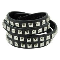 Studded Wrap Bracelet - Black