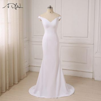 ADLN Simple Long Evening Dresses Mermaid Sexy Deep V-neck Women Evening Gowns Robe De Soiree Customized Color