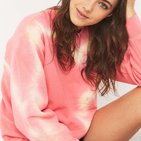 Urban Renewal Vintage Customised Coral Tie-Dye Sweatshirt - Urban Outfitters