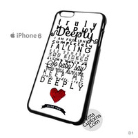 One Direction Truly Madly Deeply Phone Case For Apple,  iphone 4, 4S, 5, 5S, 5C, 6, 6 +, iPod, 4 / 5, iPad 3 / 4 / 5, Samsung, Galaxy, S3, S4, S5, S6, Note, HTC, HTC One, HTC One X, BlackBerry, Z10