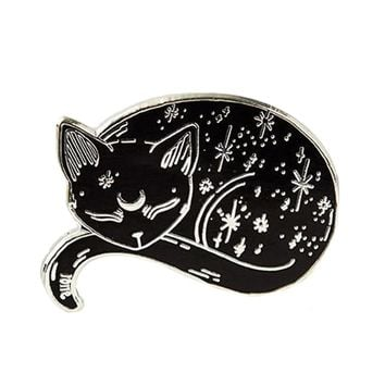 Punky Pins Mystical Cat Enamel Pin Badge | Attitude Clothing