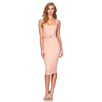 Heartless Bandage Dress - Peach