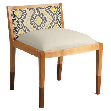 Riona Cotton Accent Chair, Light Gray, Accent & Occasional Chairs