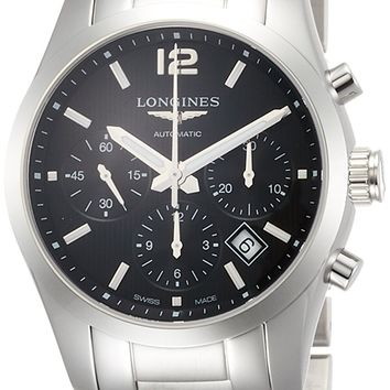 Longines Conquest Classic Automatic Black Dial Stainless Steel Mens Watch L27864566