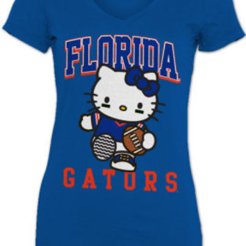 University of Florida Gators Hello Kitty Women's V-Neck T-Shirt | University of Florida