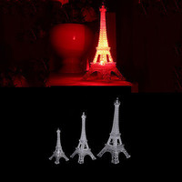 Romantic Eiffel Tower Night Light Desk Bedroom Decoration Table LED Lamp New HU