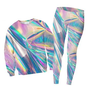 Holographic Foil Combo Sweater and Leggings