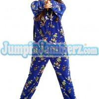 Marvin The Martian Adult Footed Pajamas Footie PJs One Piece Adult Pajamas - JumpinJammerz.com