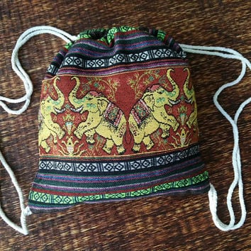 Hippie Styles Gypsy travel luggage Nepali bag Bohemian gift for her him unique elephant tribal beach festival men fashion Boho Bohemian