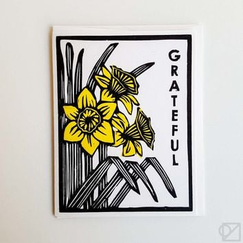Grateful Daffodils Greeting Card - Omoi Zakka Shop