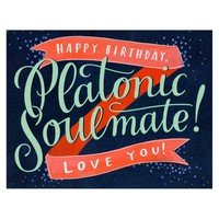 Platonic Soulmate Birthday Card