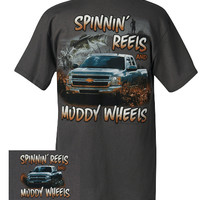 Silverado Muddy Wheels T-Shirt-Chevy Mall