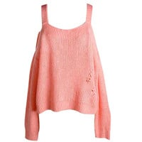 Knitted Cut Out Sweater