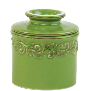 The Original Butter Bell Crock by L. Tremain Antique Vert Green