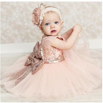 Baby girls clothes flower girls wedding dresses pink bridesmaid summer dress vestido batizado ropa bebe girl robe bebe fille