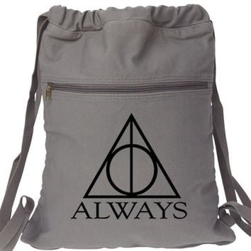 Always Harry Potter Canvas Backpack