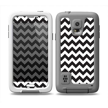 The Black & White Chevron Pattern Skin for the Samsung Galaxy S5 frē LifeProof Case