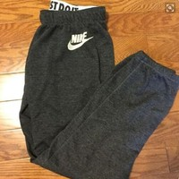 One-nice™ Women Autumn Winter Fashion NIKE Print Thick Sport Stretch Pants Trousers Sweatpants Gym Jogging Exercise Casual Sport