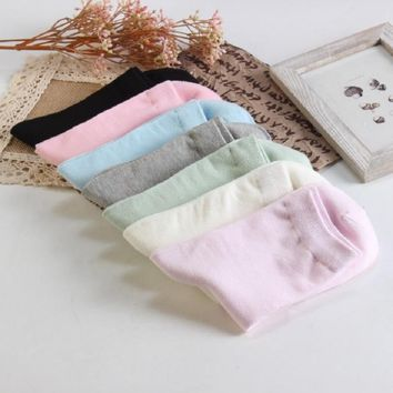 1 Pair Women Knee-high Sports Socks Candy Color Cotton Breathable Socks for Outdoor Hiking Cycling Running Sports Sock