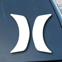 Hurley H Car Window Vinyl Decal Sticker