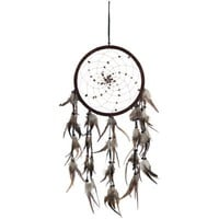 "DreamCatcher ~ SPIRAL PATTERN WITH TIGER EYE ~ Approx 8.5"" Diameter 25"" Long"