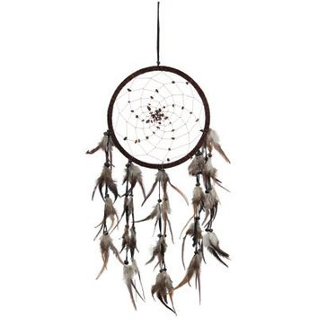 DreamCatcher ~ SPIRAL PATTERN WITH TIGER EYE ~ Approx 8.5 Diameter 25 Long