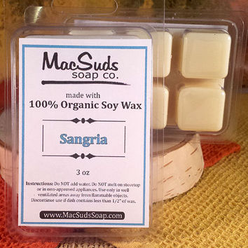 SANGRIA Fruit Wine, Soy Wax Melts, Soy Wax Tarts, Scented Wax Melts